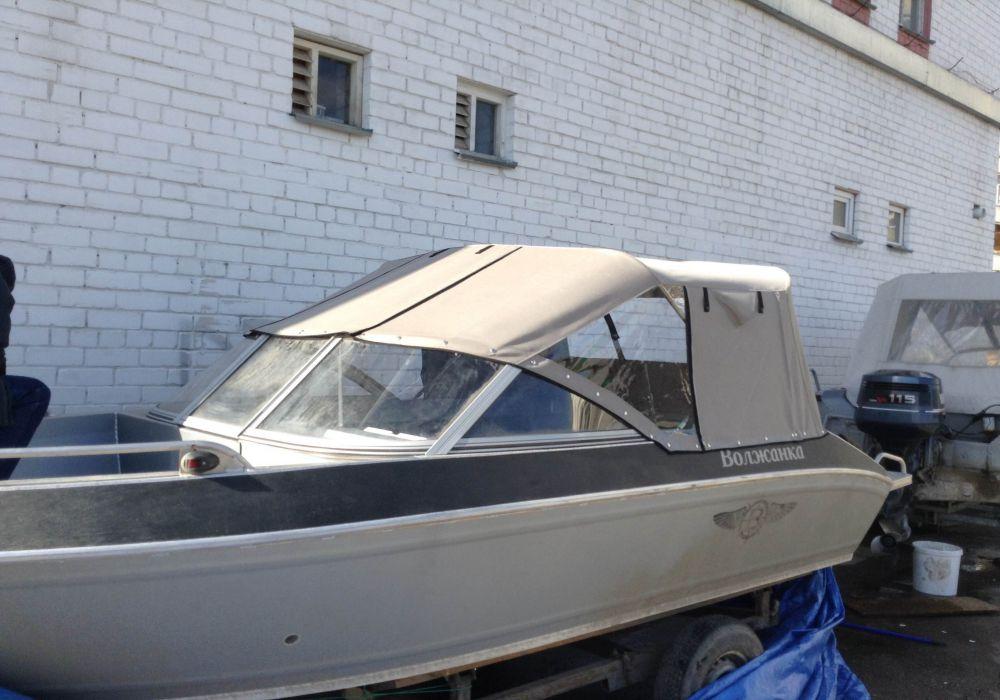 Ходовой закрытый тент на моторную лодку